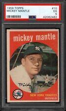 Mickey Mantle 1959 Topps #10 New York Yankees PSA 5 EX