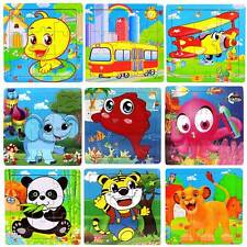 New Cartoon Fish Wooden Puzzles Children Toddler Early Educational Jigsaw Toys