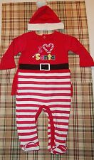 Nwt 2pc L/S Sleeper Playset Hat Santa Suit Pajamas Christmas Holiday outfit