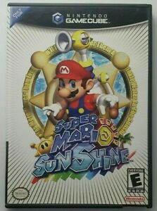Super Mario Sunshine (GameCube, 2006) GAME DISC AND CASE ~TESTED~ VG