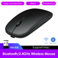 2.4GHz Wireless USB Rechargeable Optical Computer Mice Dual Mode Bluetooth Mouse