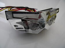LED rear light transformer clear lens chrome case stop and tail light