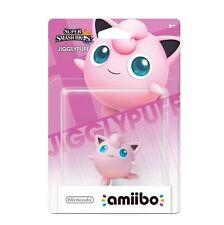 NIB Nintendo Super Smash Bros Amiibo Wii Jigglypuff WiiU 3DS NA Version
