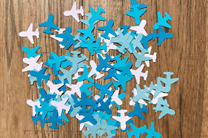Airplane/Aeroplane/Plane Table Confetti/Decoration/Punches-Shades Of Blue/White