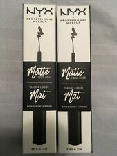 2 NYX MATTE LIQUID LINER - MLL01 BLACK - water resistant