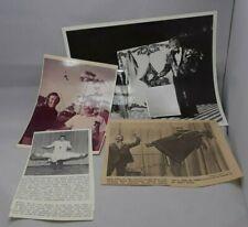 Photos And News Paper Articles Of Dick Johnson Doing Magic Tricks Levitation