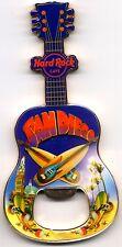 Hard Rock Cafe SAN DIEGO  V8 City T-Shirt Guitar Bottle Opener Magnet