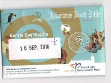 nederland coincard EERSTE DAG VAN UITGIFTE JHERONIMUS BOSCH VIJFJE 2016