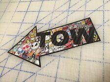 "Carbon Fiber Tow Here Sticker Bomb Stickerbomb Arrow 6"" Vinyl Decal Sticker JDM"
