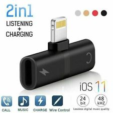 Adapter For Apple iPhone 11 Pro Max Splitter Audio Earphone AUX Charger Dual US