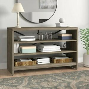 Heavy Duty Console Table Surface Sofa Table Hallway Table with Storage Shelves