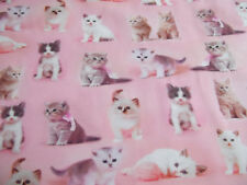 Baumwoll Jersey Digital Cats rosa
