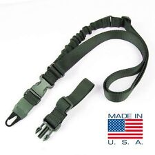 Condor Viper Tactical Single Point Bungee Rifle Sling + 2 Adaptors - OD #US1021