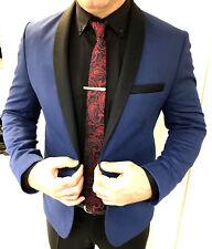 Designer Bleu Smoking Veste Blazer veste jacket coupe slim fit SlimFit 46