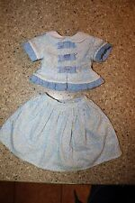 AMERICAN GIRL MARIE GRACE SKIRT SHIRT OUTFIT BLUE TAGGED