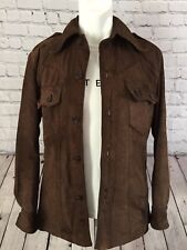 Suede Jacket By Dandy Kings Rd Chelsea original vintage1960s Mens small 36 chest