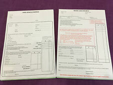 USED CAR TRADE SALES INVOICE PAD & USED CAR SALES INVOICE PAD FOR VANS OR CARS