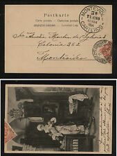 Uruguay #157 on nice post card 1904 large ballon cancel Kl0128