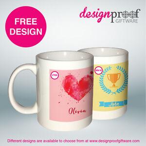 2 x Personalised Coffee Mugs