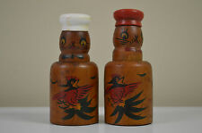 Salt and Pepper Shakers Wooden