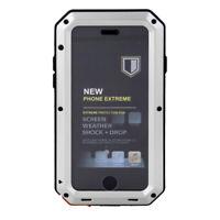 Coque Housse Protection Etanche Métallique Mode pour iPhone 6 6s Argenté