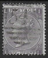 SG97.  6d.Lilac (With Hyphen) Plate 6. Light Cancel. Cat.£200.  Ref.0/123