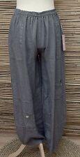 Lagenlook Lino increíble Harén Pantalones/Pantalón de gran tamaño extravagantes ** ** Carbón L-XL-XXL