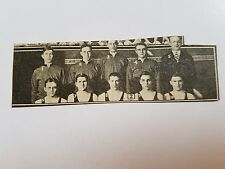 Johnson Creek Wisconsin High School 1930-31 Basketball Mini Team Picture