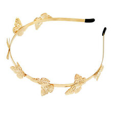 Fashion Women Ladies Elegant Gold Plated Butterfly Hairband Headband Hair Decor