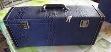 Ancienne Valise Coffret Carton Sky Cuir avec Clés 50 x 14 x 21 cm