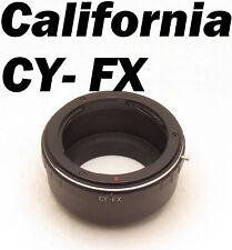 CY Contax Yashica C/Y Lens to Fujifilm Fuji X-Pro1 XPro1 X Pro 1 FX Adapter Ring