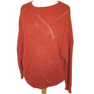 Nada Del Riccio Womens Jumper Knit Rust Size Medium New See Info Wool Blend