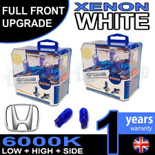 Civic FN2 05-on Xenon White Upgrade Kit Headlight Dipped High Side Bulbs 6000k