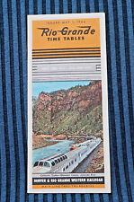 Rio Grande - Time Table - May 1, 1964