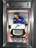 2018-19 The Cup Jordan Kyrou RED Rookie TAG Auto 7/8 Graded BGS 9
