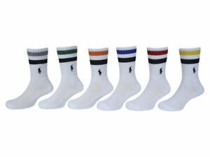 Polo Ralph Lauren Retro Stripe Socks Toddler/Little Boy's 6-Pairs Crew