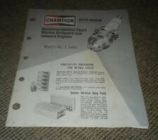 champion spark plug chart in Parts & Accessories | eBay