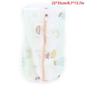 Zipped Wash Bag Net Laundry Washing Mesh Lingerie Underwear Bra Clothes So K^
