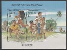 Nauru postfris 1994 MNH blok 10 - Honden / Dogs (hb019)