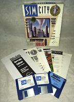 "1993 Maxis Sim City Classic City Simulator San Francisco 3.5"" Disks CIB Terrain"