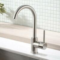 Modern Bar Sink Faucet Kitchen Sink Single Handle Brush Nickle Prep Sink Faucets