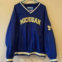 University of Michigan Wolverines Pullover Windbreaker Jacket Men 2XL Collegiate