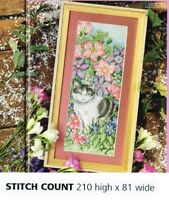 FLORAL HARMONY CAT    -  CROSS STITCH PATTERN ONLY    ALS-R