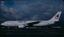 ZRH19  Original aircraft slide/Dia  Onur Air A300 D-AIAW - Kodachrome