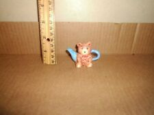 Miniature Figure Red Rose Teapot English Life Teddy Bear Lot#15