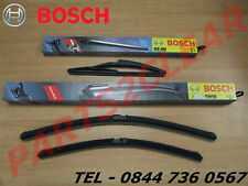 Peugeot 207 Sw Front & Rear Flat Wiper Blades Windscreen Bosch 2007- Estate
