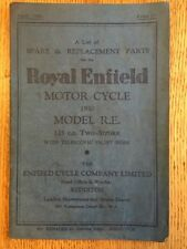 ROYAL ENFIELD R.E. 125 cc ILLUSTRATED SPARE PARTS LIST BOOK MANUAL HANDBOOK 1950