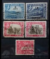 ADEN 1939-1948 COLLECTION 5 USED VALUES     B058   Free Shipping