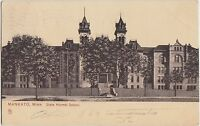 Minnesota Mn Postcard 1907 MANKATO State Normal School
