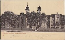 Minnesota Mn Postcard 1907 MANKATO State Normal School